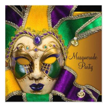 green purple and gold masquerade party