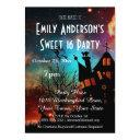 halloween haunted house costume sweet 16 birthday invitation