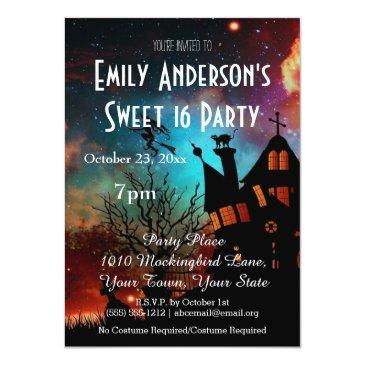 halloween haunted house costume sweet 16 birthday invitation