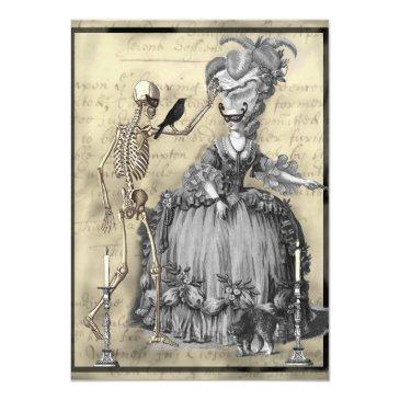 Small Halloween Masquerade Ball Invitation Front View