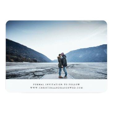 Small Handwritten | Double-sided Photo Save The Date Invitations Back View