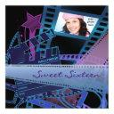 hollywood movie star sweet 16 birthday party invitation
