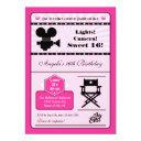 hollywood movie sweet 16 invitation