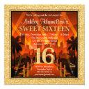 hollywood red carpet city gold glitter sweet 16 invitations