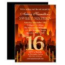 hollywood red carpet city sweet 16 birthday invitations