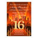 hollywood red carpet city sweet 16 birthday invitation