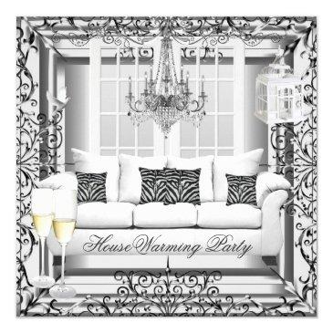 housewarming silver white champagne chandelier