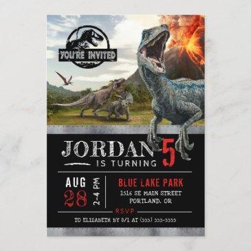 jurassic world   dinosaur birthday invitation