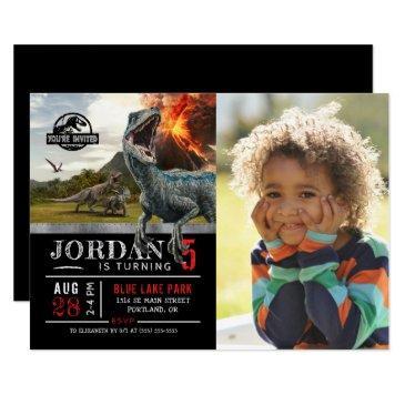 jurassic world | dinosaur birthday with photo