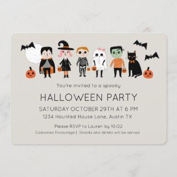 kids costume party halloween invitation