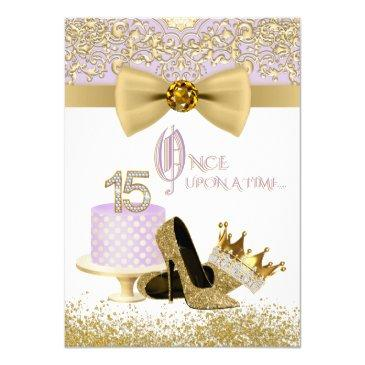 lavender and gold quinceanera birthday party