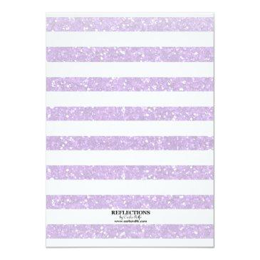 Small Lavender Glitter Photo Template Sweet 16 Party Back View