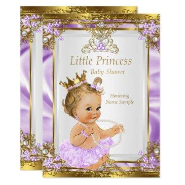 lavender gold white princess baby shower blonde