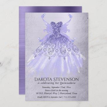 lavender iridescent purple pixie gown   party invitation