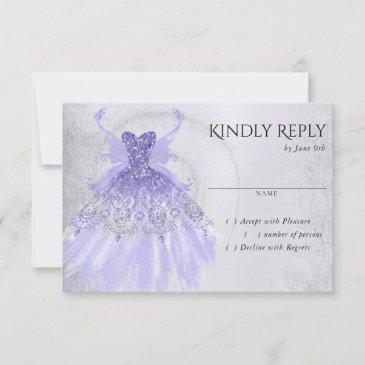 lavender iridescent purple pixie gown   party rsvp invitations