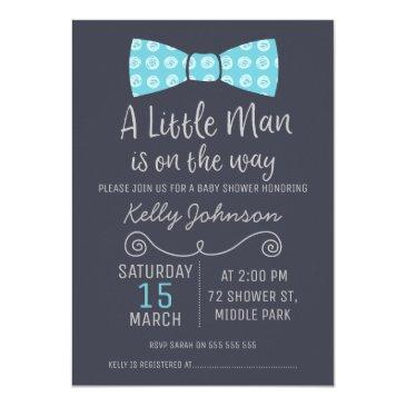 little man bow tie baby shower invitations