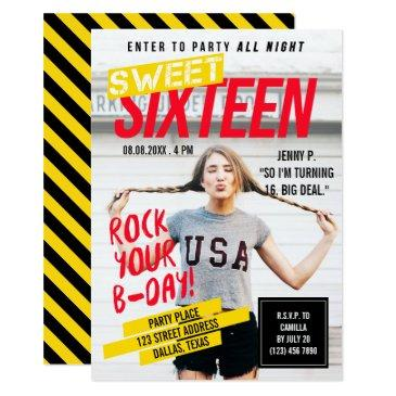 magazine cover look | sweet sixteen party invitation