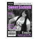 magazine cover purple sweet sixteen invitations