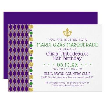 mardi gras | masquerade party invitation