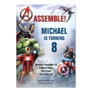 marvel   avengers - birthday invitation