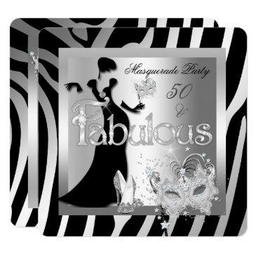 masquerade party fabulous 50 zebra silver black