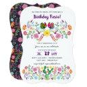 mexican fiesta birthday invitation folk art