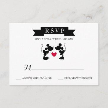 mickey & minnie wedding | silhouette rsvp