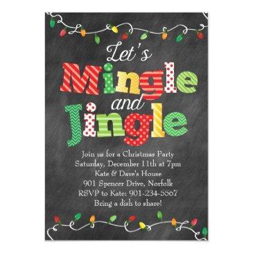 mingle & jingle christmas lights invitations