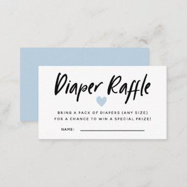 modern blue baby shower diaper raffle tickets enclosure invitations