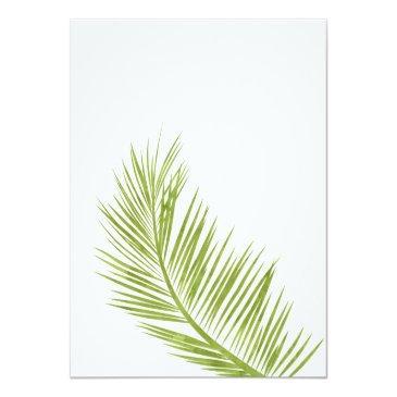 Small Modern Greenery Palm Tree Elegant Sweet 16 Invitation Back View
