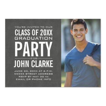 modern male grad | graduation party invitation