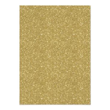 Small Modern Red Bokeh Gold Glitter Sweet 16 Invitation Back View