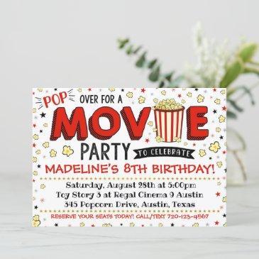 movie invitation movie birthday party movie invite