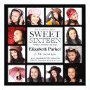 multi photo sweet sixteen party invitation