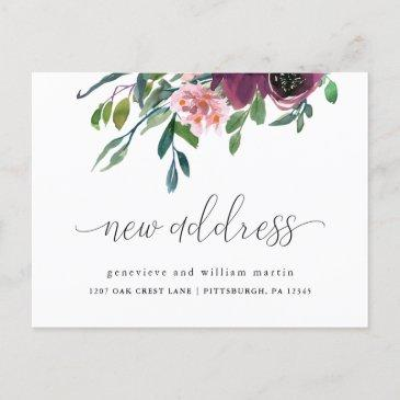 new address calligraphy change of address announcement postinvitations