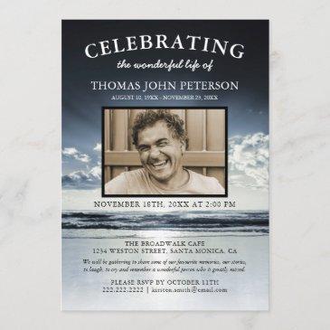 ocean funeral | celebration of life photo invitation