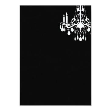 Small Offset Grand Ballroom Birthday Invitations (black) Back View