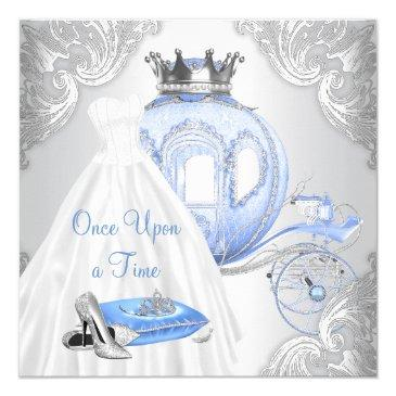 once upon a time princess birthday party invitation