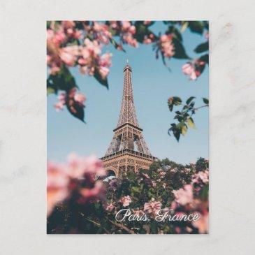 paris france eiffel tower flowers travel postinvitations