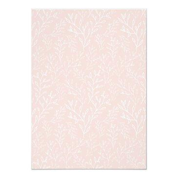 Small Pink And Beige Floral Virtual Baby Shower Invitation Back View