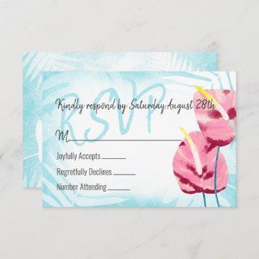 pink aqua gumdrop rsvp enclosure invitations