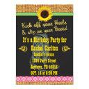 pink cowgirl birthday party invitation