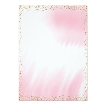 Small Pink Gold African American Princess Baby Shower Invitations Back View