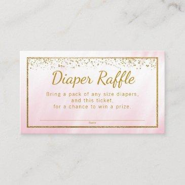 pink gold glitter girls diaper raffle tickets enclosure
