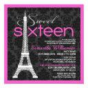 pink paris sweet 16 invitation