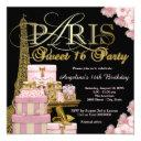 pink paris sweet 16 party