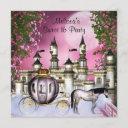 pink roses princess sweet 16 birthday party invitation