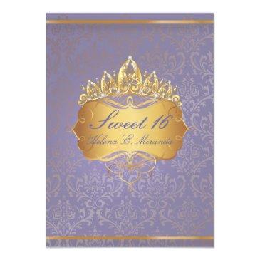 pixdezines sweet 16/vintage rossi damask invitations