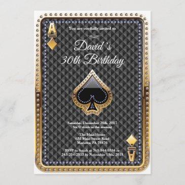 poker playing invitations casino birthday invitation