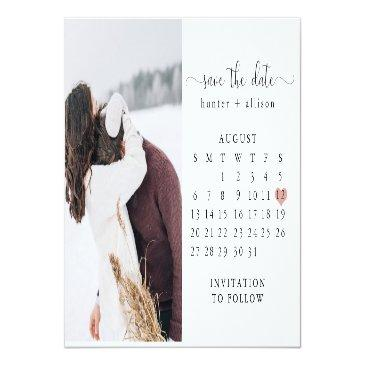 Small Post Invitations   Calendar Save The Date Front View
